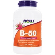 NOW Foods - Vitamin B-50 - 250 Tablets