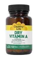 Country Life - Dry Vitamin A 10000 IU
