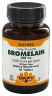Country Life - Bromelain Triple Strength Enzymes 500