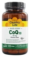 Country Life - Maxi-Sorb CoQ10 Q-Gel 30 mg.