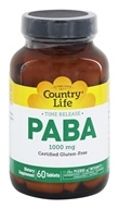 Country Life - PABA Time Release 1000 mg.