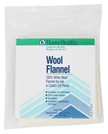 100% White Wool Flannel for Use in Castor Oil Packs Large