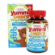 Yummi Bears Children's Vegetarian Complete Multi-Vitamin - 90 Sour Gummies