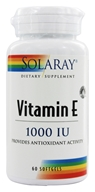 Solaray - Vitamin E 1000 IU - 60