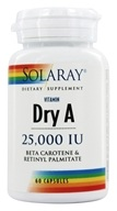 Solaray - Dry Vitamin A 25000 IU -