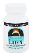 Source Naturals - Lutein 20 mg. - 30