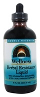 Source Naturals - Wellness Herbal Resistance Liquid -