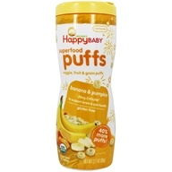 HappyFamily - HappyPuffs Organic SuperFoods Banana - 2.1