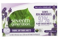 Natural Fabric Softener Sheets Blue Eucalyptus and Lavender - 80 Sheet(s)