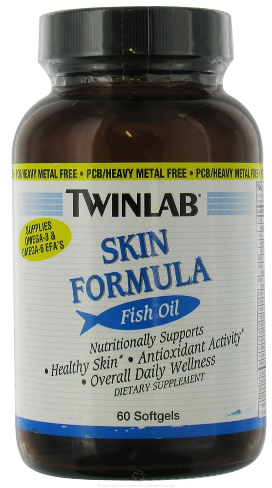 Buy twinlab skin formula fish oil 60 softgels at for Fish oil for skin