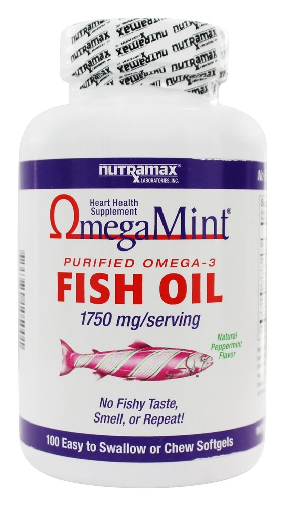 Buy nutramax labs omega mint purified omega 3 fish oil for Fish oil for heart
