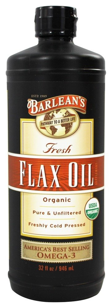 Organic cold pressed flaxseed oil