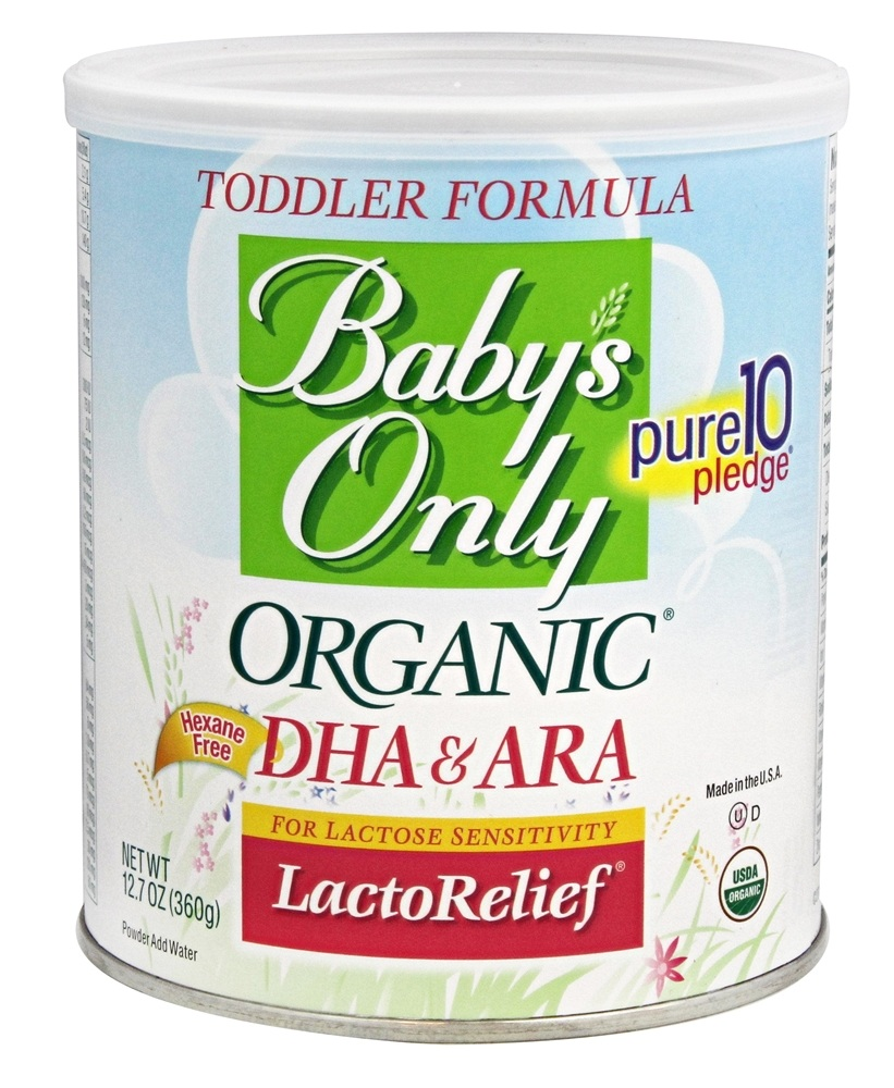 Buy Baby S Only Organic Dha Amp Ara Lactorelief Toddler