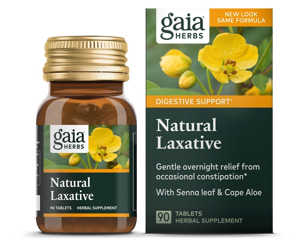 Buy Gaia Herbs - RapidRelief Natural Laxative - 90 Tablet(s) at  LuckyVitamin.com