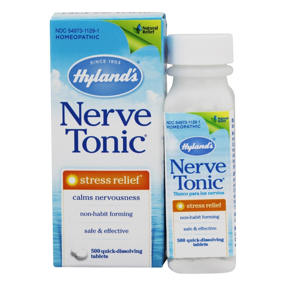 Buy Hylands Nerve Tonic Stress Relief 500 Tablets At