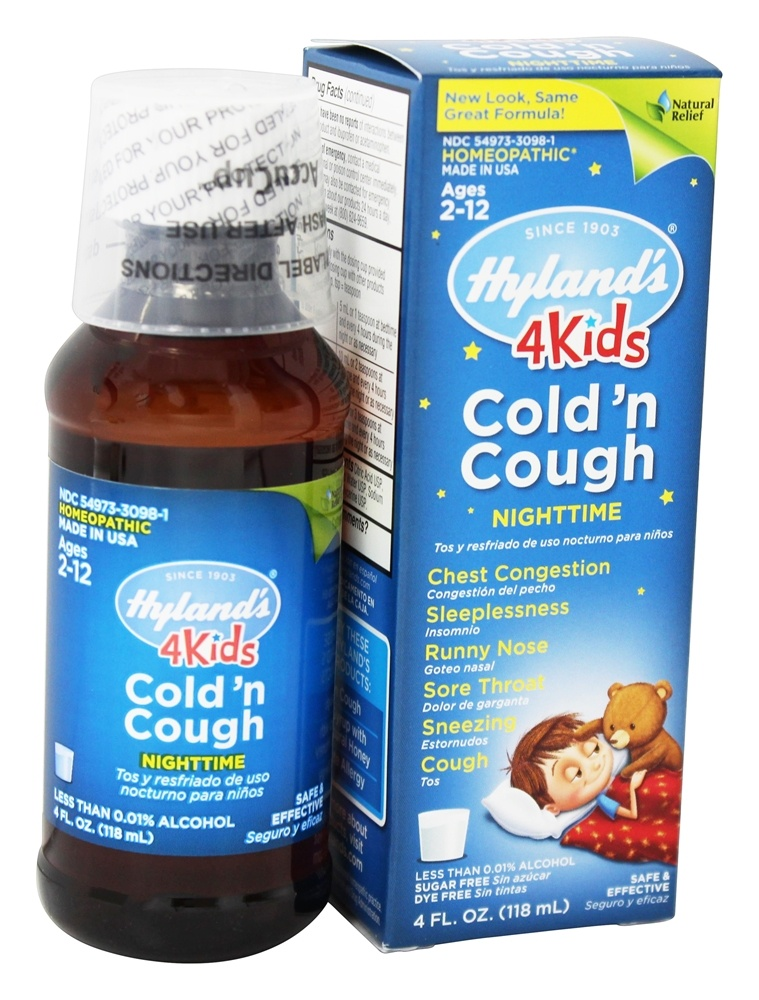 Buy Hylands Nighttime Cold N Cough 4 Kids 4 Oz At Luckyvitamin Com