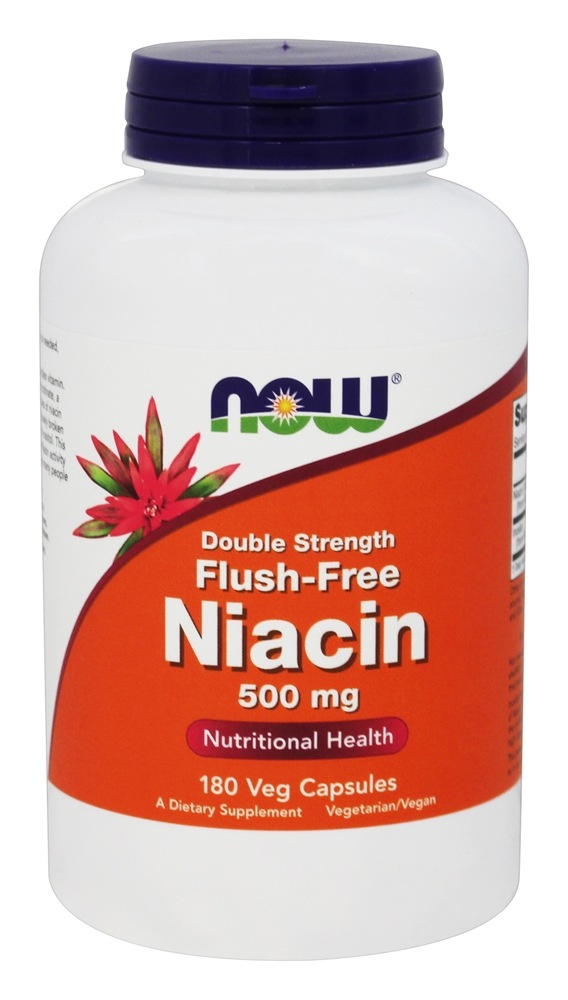 Buy NOW Foods - Niacin Flush-Free Double Strength 500 mg ...