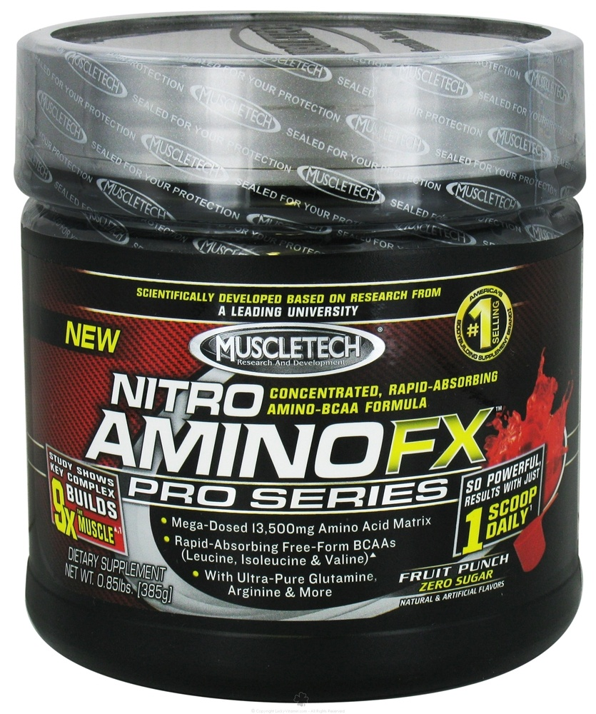 Buy Muscletech Products Nitro Amino Fx Pro Series Fruit Punch Platinum Bcaa Essential 085 Lbs At