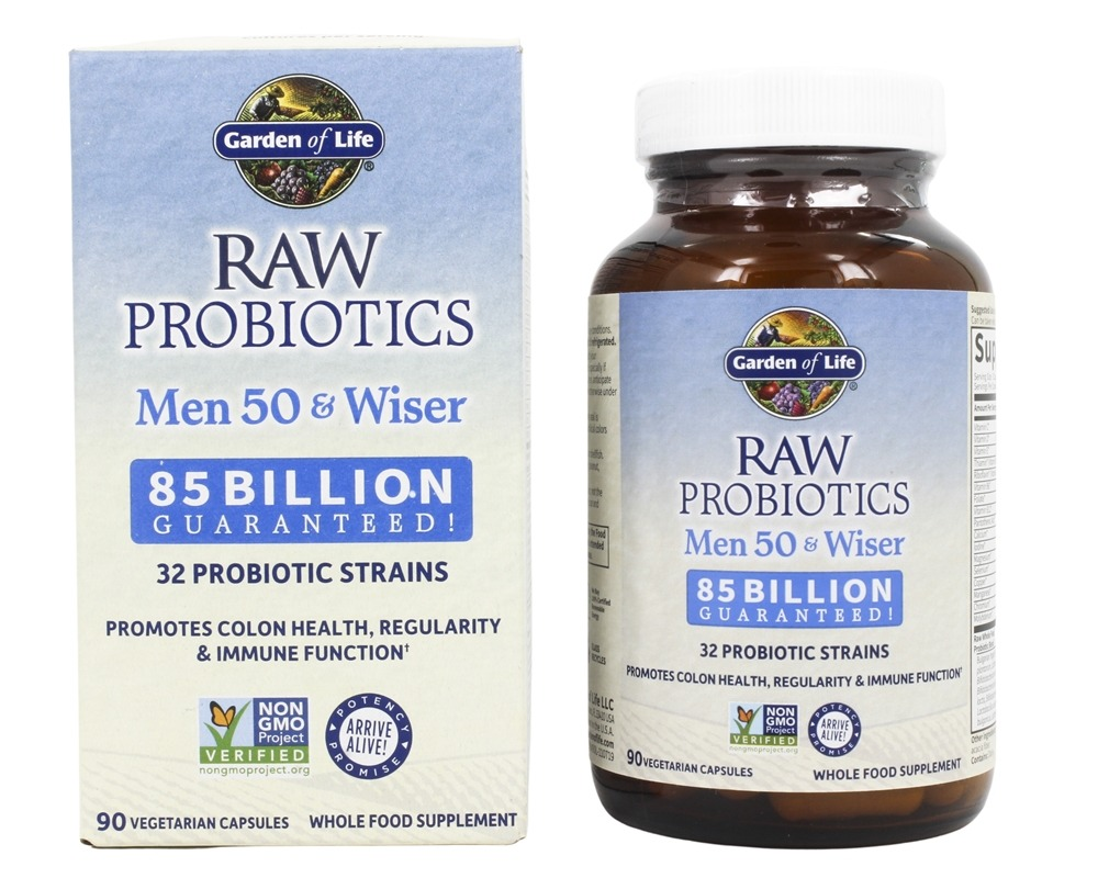 Buy Garden Of Life   RAW Probiotics Men 50 U0026 Wiser 85 Billion CFU   90  Vegetarian Capsules At LuckyVitamin.com Photo