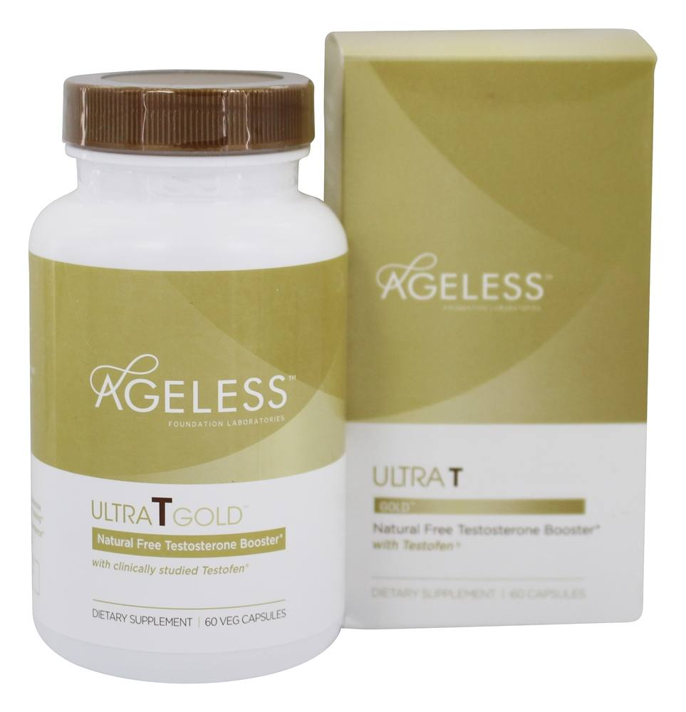 Buy Ageless Foundation - Ultra T Gold Natural Free Testosterone Booster - 60 Vegetarian Capsules