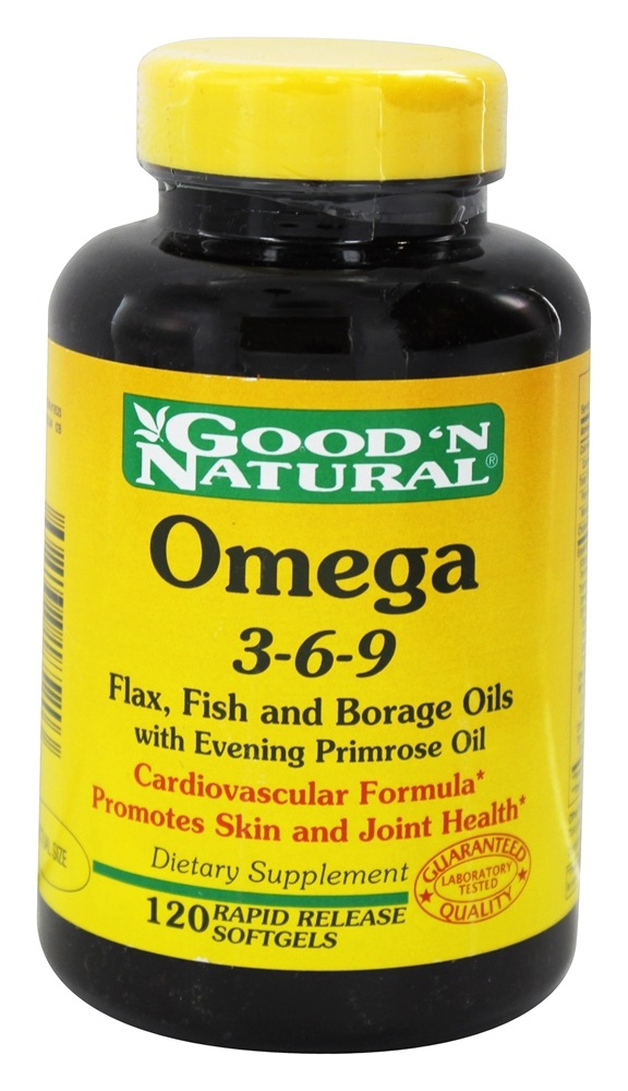 Buy Good N Natural Omega 3 6 9 Flax Fish Borage Oil With Evening Primrose Oil 120 Softgels At Luckyvitamin Com