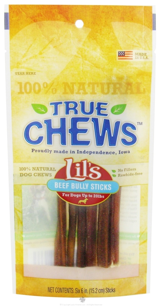 buy true chews lils beef bully sticks for dogs 6 pack 6 in at. Black Bedroom Furniture Sets. Home Design Ideas