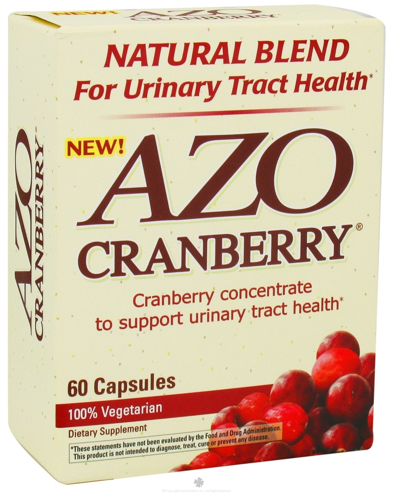 buy azo - cranberry natural blend for urinary tract health - 60