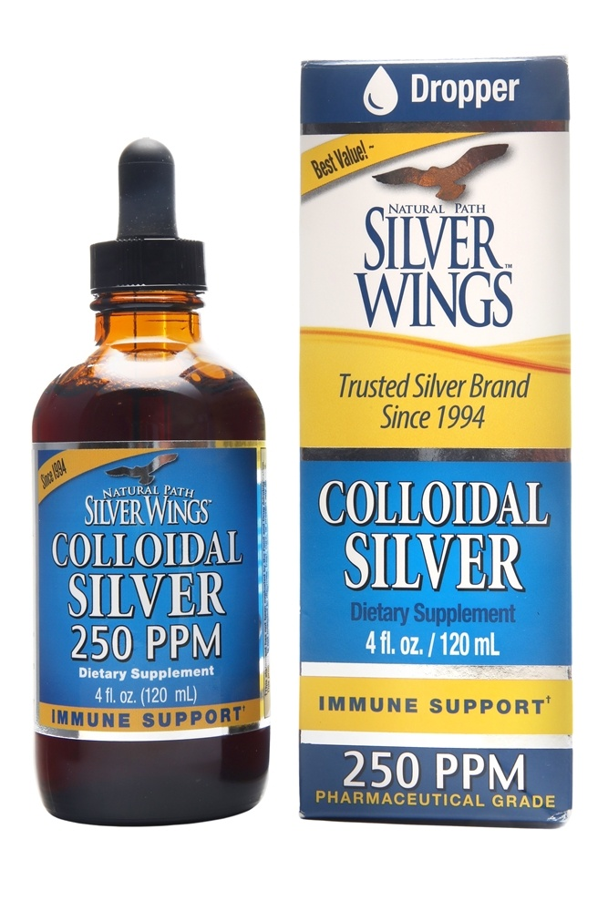 Buy Natural Path Silver Wings Colloidal Silver 250 Ppm
