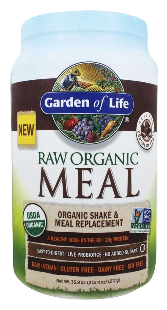 Buy Garden Of Life Raw Organic Meal Shake Meal Replacement Chocolate Cacao 35 9 Oz At