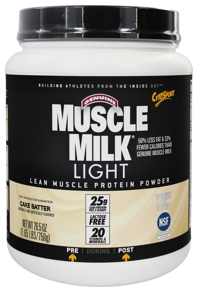 Muscle milk brownie batter