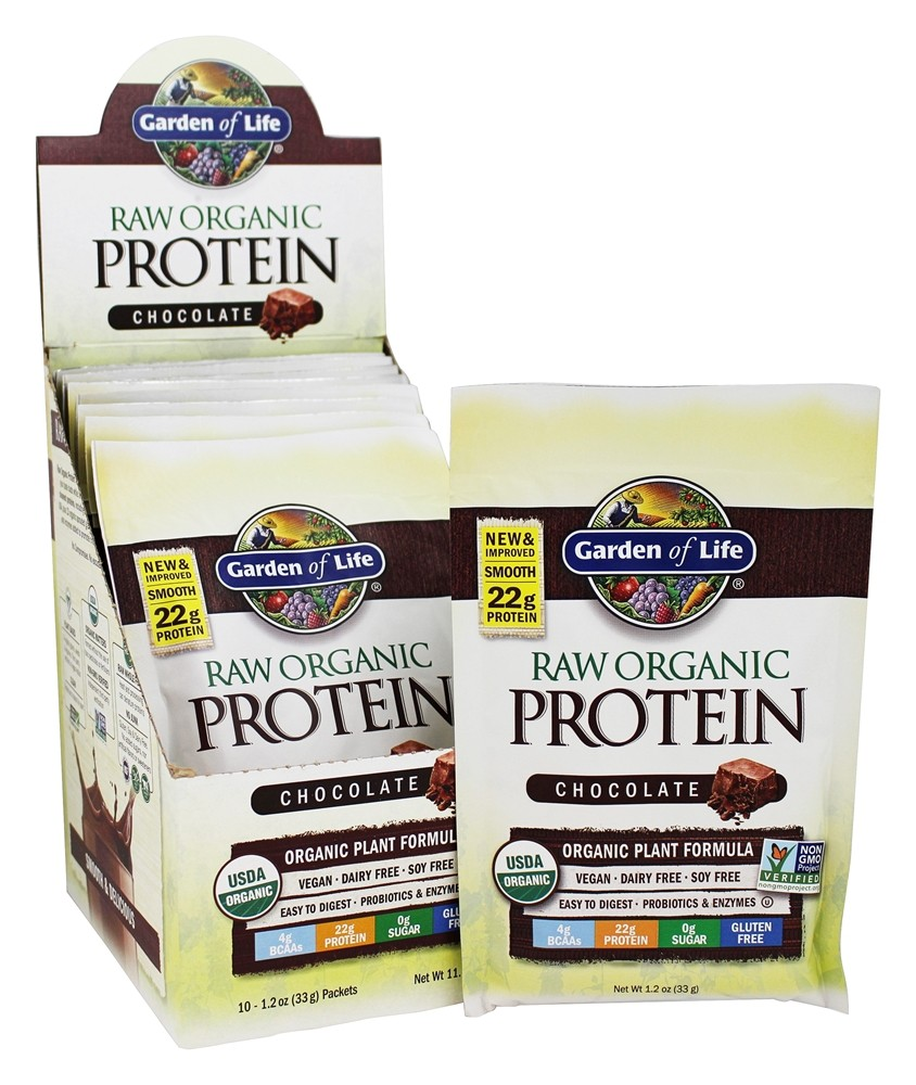 Buy Garden Of Life Raw Organic Protein Chocolate 10 Packet S At