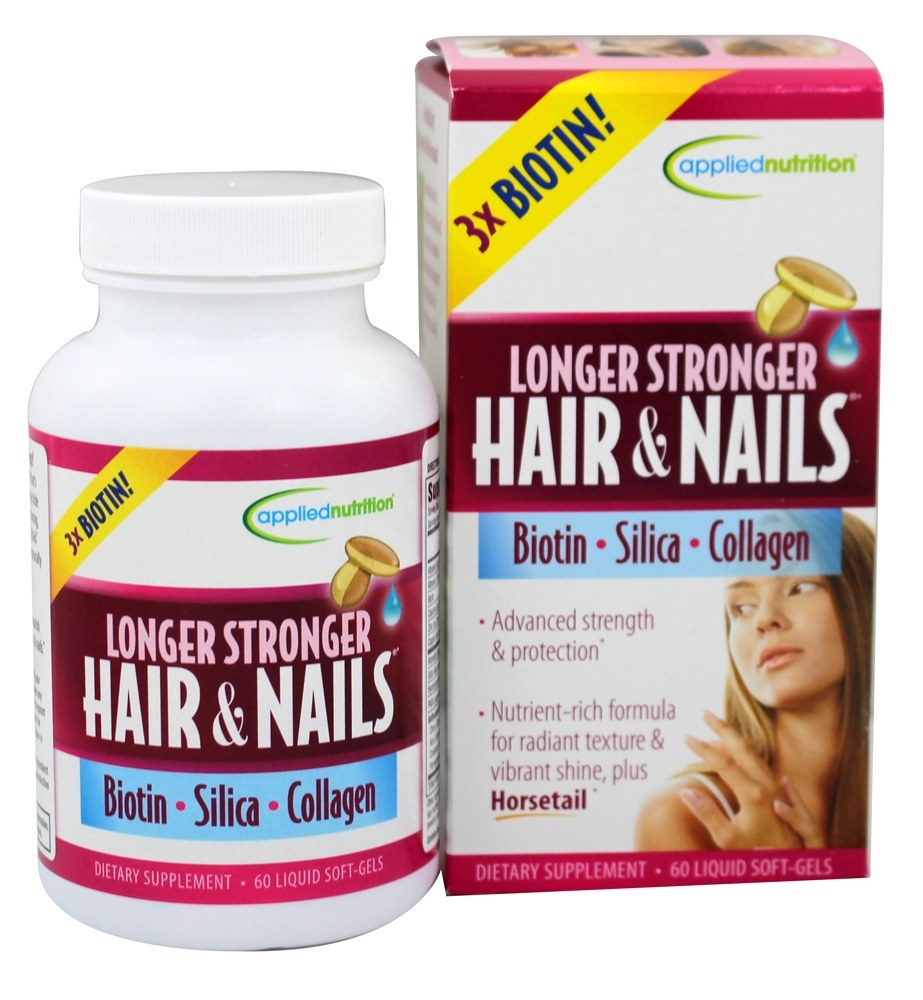 Longer Stronger Hair And Nails 60 Softgels By Applied Nutrition
