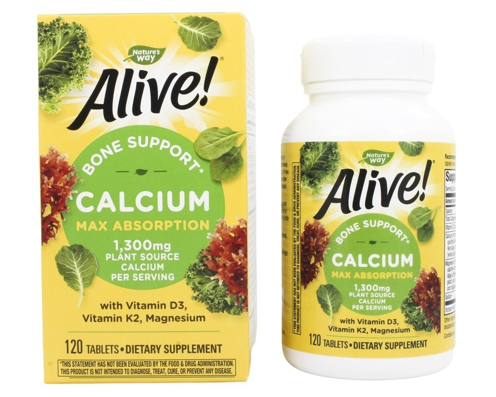 Nature S Way Alive Calcium Bone Formula Max Absorption  Tablets