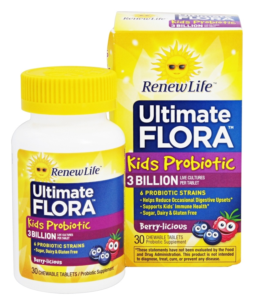 Buy Renew Life  Ultimate Flora Kids Probiotic  30 Chewable Tablets
