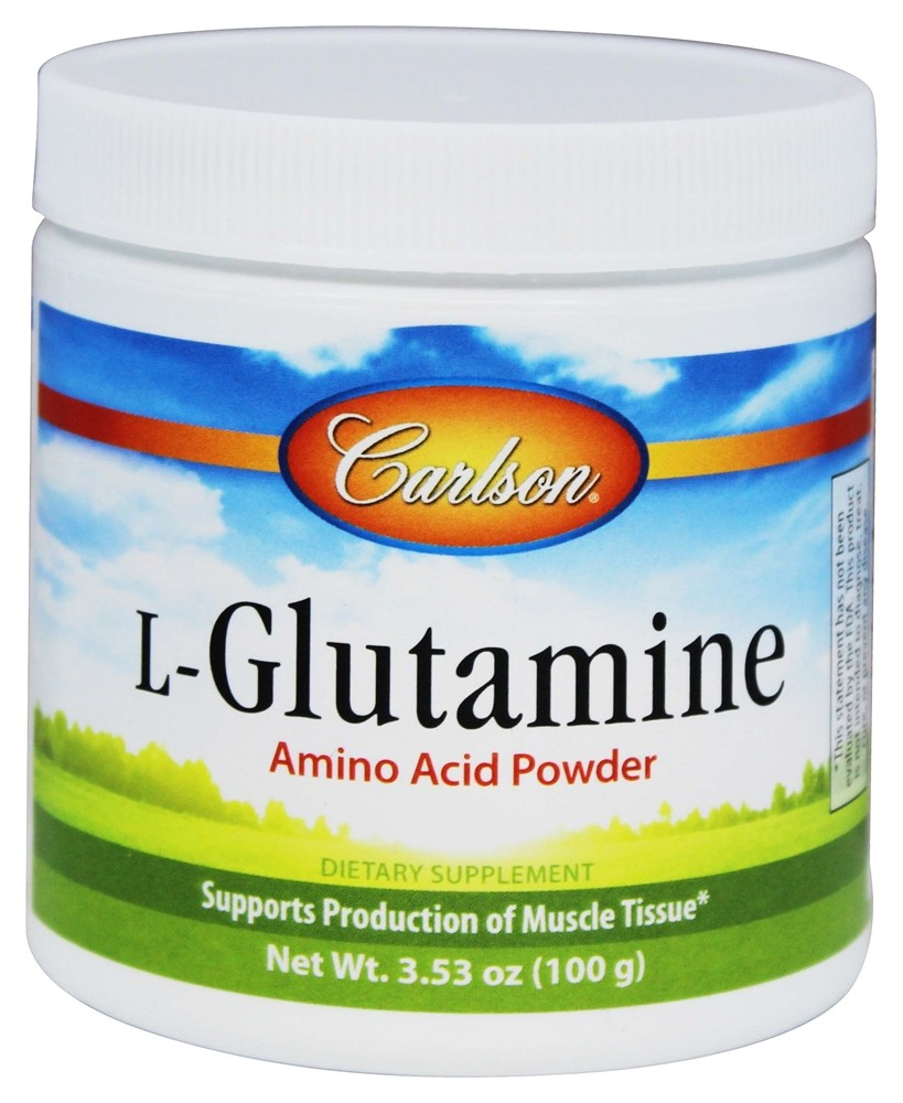 buy carlson labs lglutamine amino acid powder 3000 mg