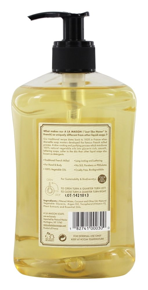 Buy a la maison traditional french milled liquid soap for A la maison white tea liquid soap