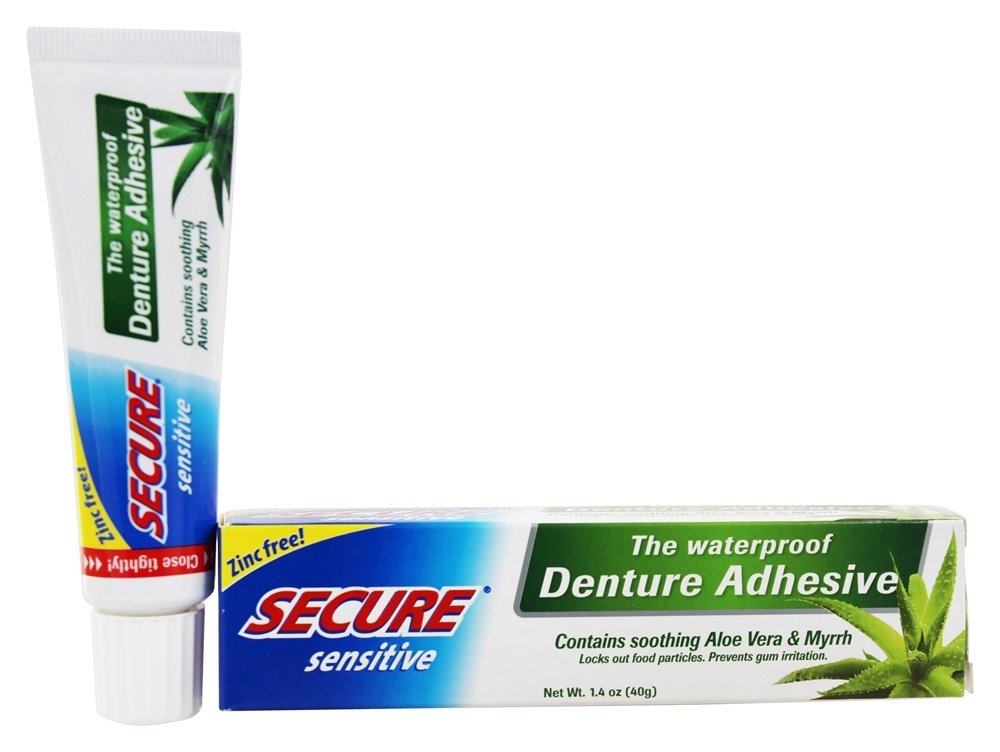 Buy Secure Sensitive Waterproof Denture Adhesive 1 4