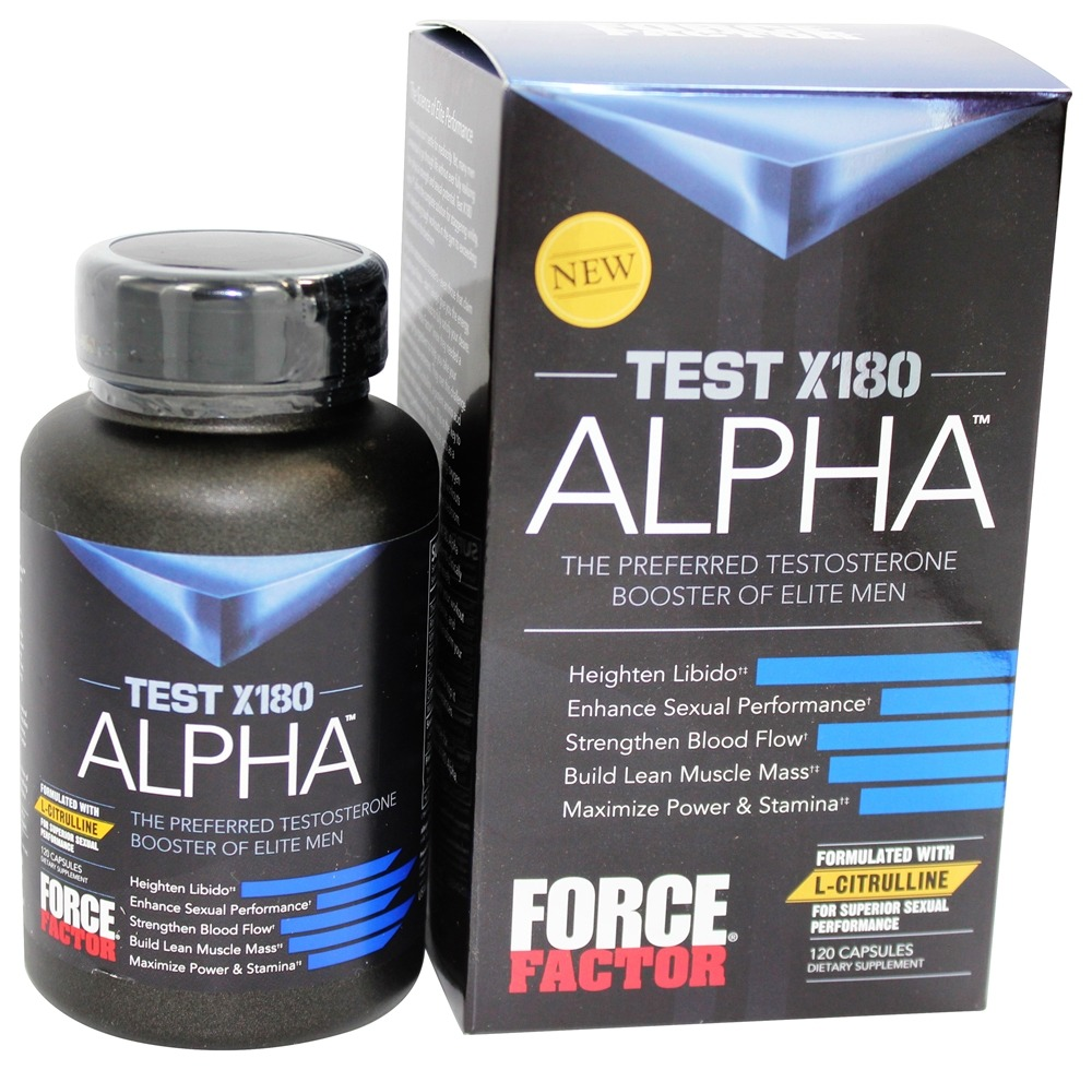 Buy Force Factor - Test X180 Alpha - 120 Capsules at
