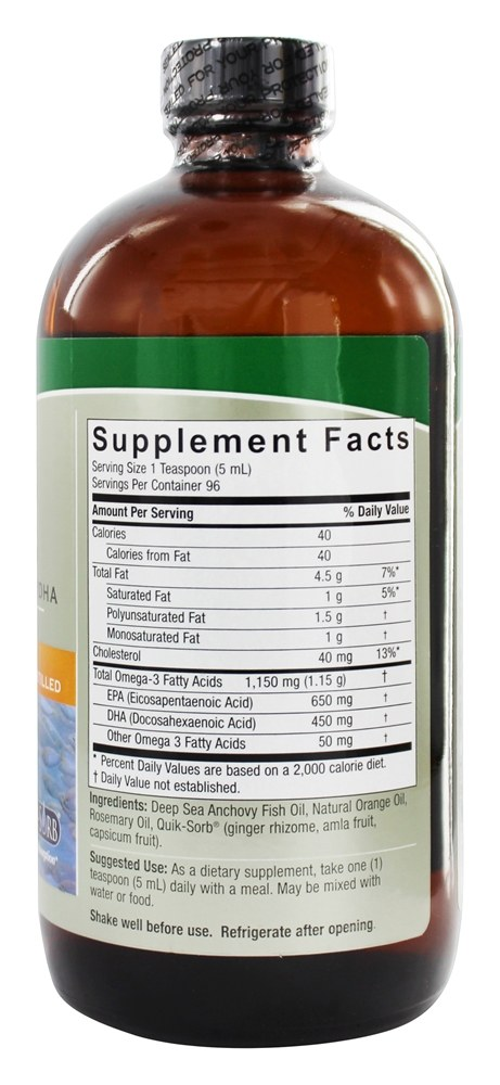 Natures Answer Fish Oil Orange How Good