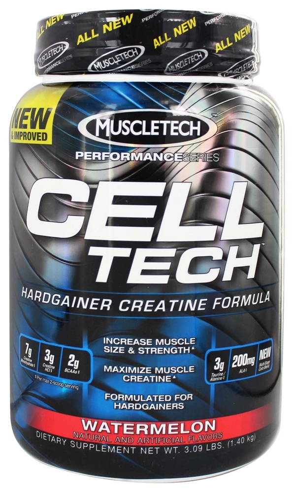 Buy muscletech products cell tech performance series hardgainer creatine formula watermelon - Cell tech hardgainer creatine formula ...