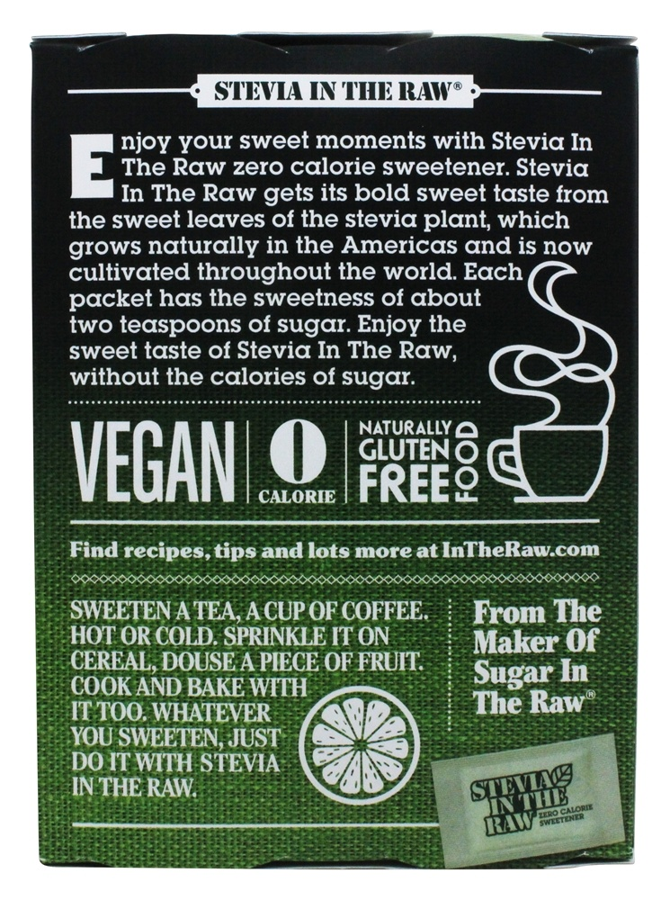 Buy In The Raw - Stevia In The Raw Natural Sweetener - 100 ...