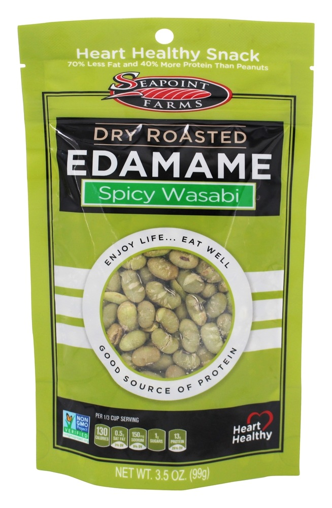 Buy SeaPoint Farms - Dry Roasted Edamame Spicy Wasabi - 3 ...