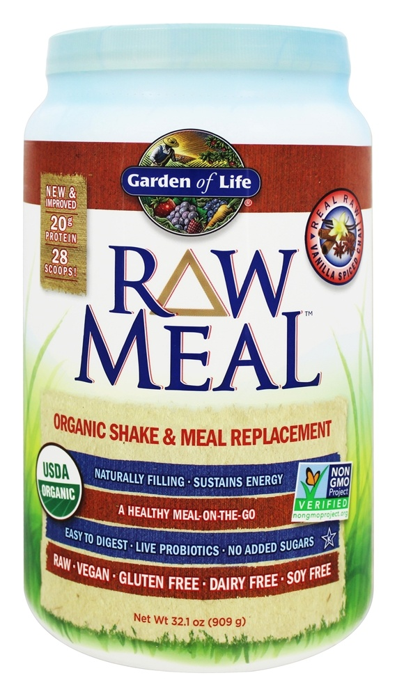 Buy Garden Of Life Raw Meal Organic Shake Meal Replacement Vanilla Spiced Chai 32 1 Oz At