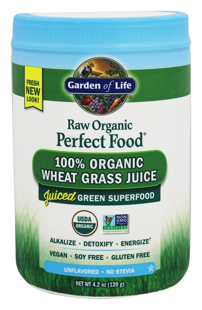 Buy Garden Of Life Perfect Food Raw 100 Organic Wheat Grass Juice Powder Unflavored 4 2 Oz