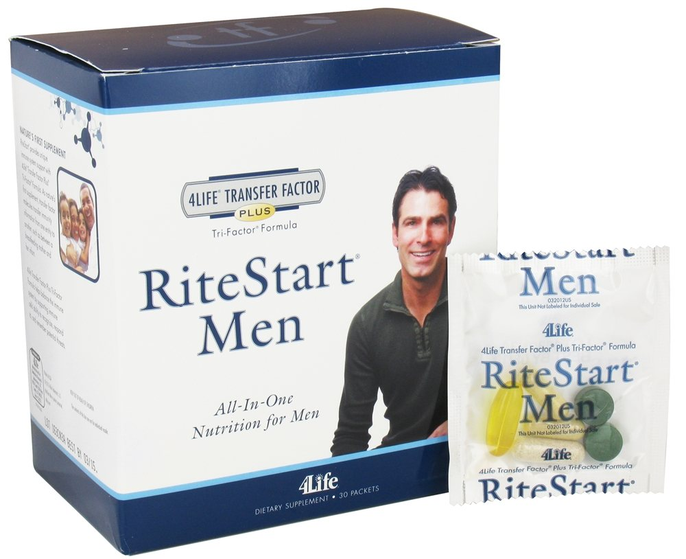 Buy 4life Ritestart Men All In One Nutrition 30 Packets At Transfer Factor Advance Trifactor Tri Formula
