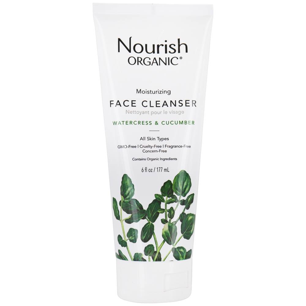 Nourish Organic Moisturizing Face Cleanser, Cucumber Watercress, 6 Oz [TONYMOLY] Egg Pore Blackhead Steam Balm 30g