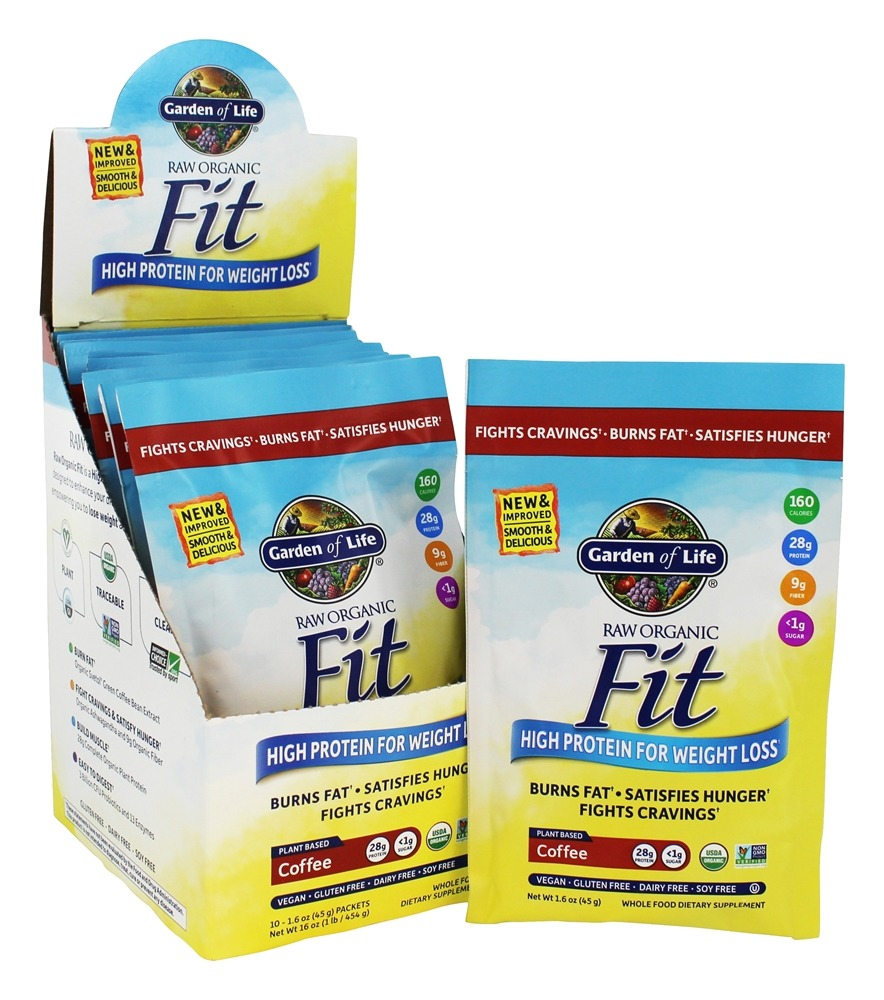 buy garden of life raw organic fit high protein for weight loss coffee 10 packets at luckyvitamincom - Garden Of Life Raw Fit