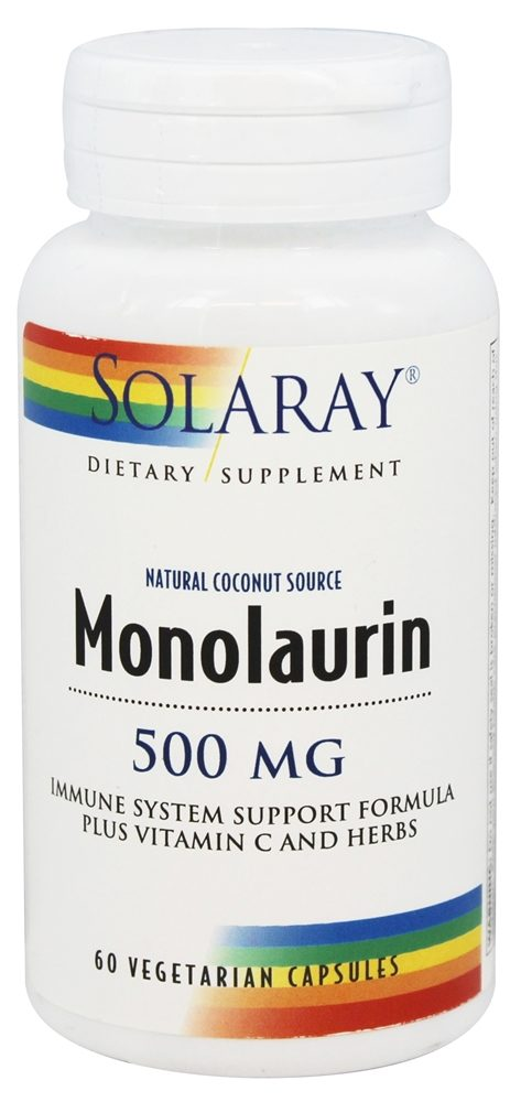 Buy Solaray - Monolaurin Natural Coconut Source 500 mg  - 60