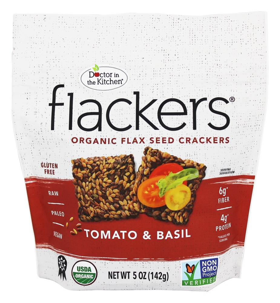 Buy Doctor In The Kitchen Flackers Flax Seed Crackers