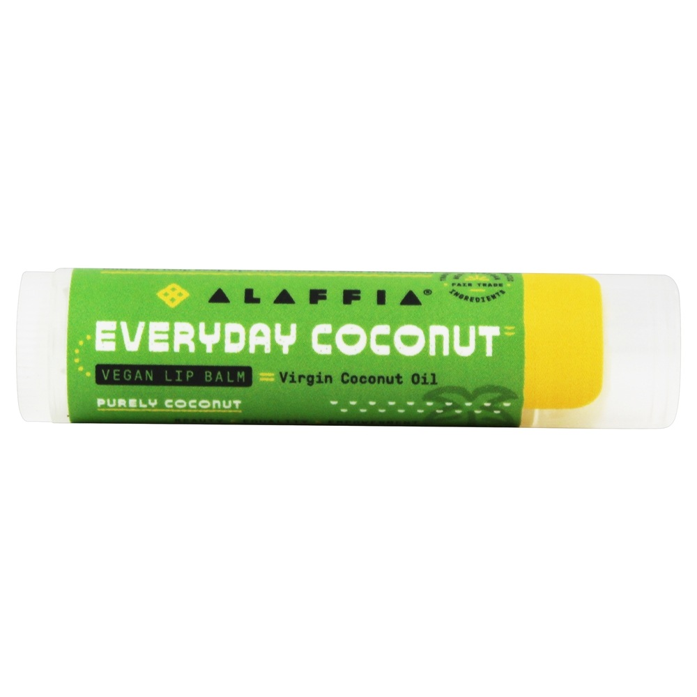 Ethically Traded Lip Balm Purely Coconut - 0 15 oz Alaffia